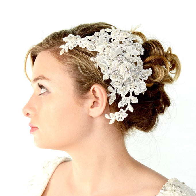 Merletto Bridal Headpiece - Hair Accessories - Headpieces - Roman & French