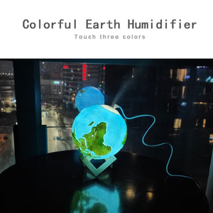 1500ML Air Humidifier 3D Earth Lamp - One Stop Quik Shop