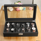 12 Slot Luxury Watch Storage Case - One Stop Quik Shop