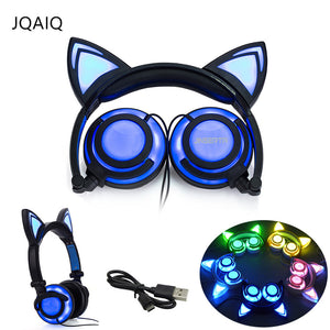L.E.D Cat Ear Gaming Earphones for Adult & Children - One Stop Quik Shop