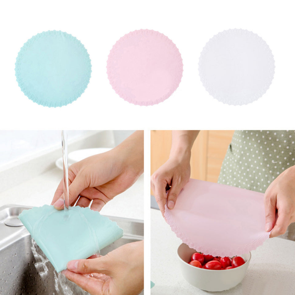 Reusable Silicone Stretch Protective Seal Cover Food Fresh Keeping Kitchen Tool - One Stop Quik Shop