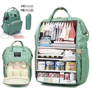Usb Diaper Backpack Bag - One Stop Quik Shop