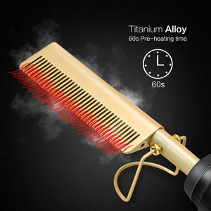 Hair Straightener Flat Iron Comb - One Stop Quik Shop