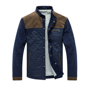 Men Autumn Patchwork Jacket - One Stop Quik Shop