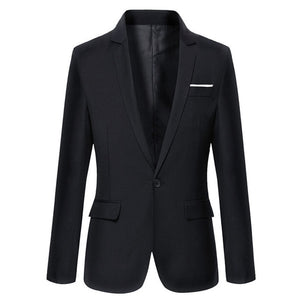 Men's Casual Solid Color Masculine Blazer - One Stop Quik Shop