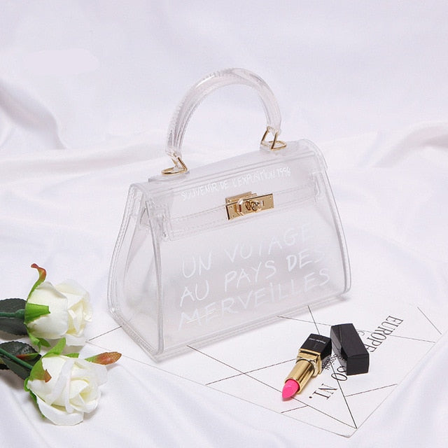 Clear Transparent PVC Shoulder Bags Women Candy Color Women Jelly Bags Purse Solid Color Handbags - One Stop Quik Shop