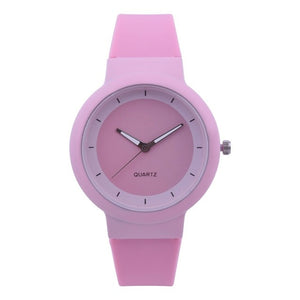Woman Fashion Silicone Band Analog Quartz Round Wrist Watch Watches Rhinestone quartz watch relogio feminino the women wrist A40 - One Stop Quik Shop