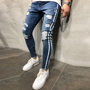 Mens Skinny Stretch Jeans Pants - One Stop Quik Shop