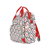 Red and White Wakerlook Multi-Function Backpack - One Stop Quik Shop