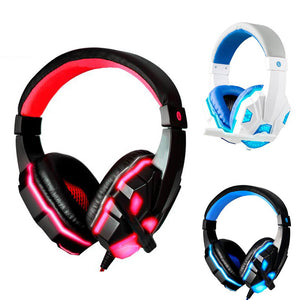 Stereo Gaming Headset with Mic LED Light for PC Laptop - One Stop Quik Shop
