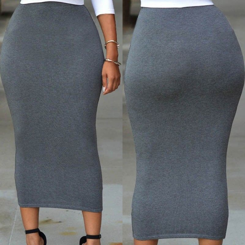 Women's Bandage Bodycon High Waist Pencil Bodycon Maxi Skirt - One Stop Quik Shop
