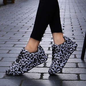 Women's Leopard Pattern Fabric Flats - One Stop Quik Shop