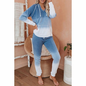 Women Autumn Winter Tie Dye Long Sleeve Top Shirt Loose and Pants Set - One Stop Quik Shop