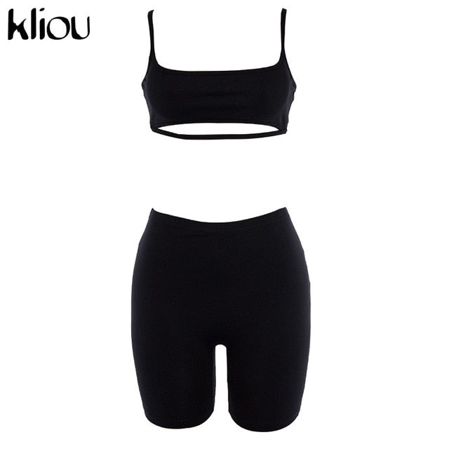 Women's 2 Piece Sleeveless Casual Tracksuit - One Stop Quik Shop