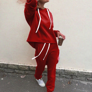 Ladies Casual 2 Piece Sweat Suit - One Stop Quik Shop