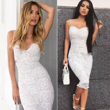 Women V-Neck Spaghetti Strap Knee-Length Dress - One Stop Quik Shop