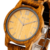Men's Handmade Engraved Ambila Wooden Watch - One Stop Quik Shop