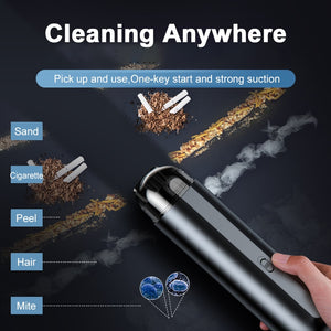 Baseus Portable Car Vacuum Cleaner Wireless Auto Vaccum 5000Pa Suction - One Stop Quik Shop