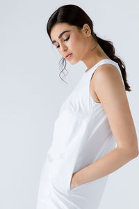 White Cotton Sack Dress - One Stop Quik Shop