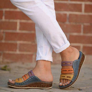Casual Women Sandals Leisure Slip on Slide Shoes - One Stop Quik Shop