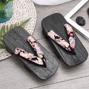 Unisex Woman Paulownia Wooden Japanese Traditional Geta Clogs Man Naruto Ninja Cosplay Shoes Flip Flops Outdoor Sandals - One Stop Quik Shop
