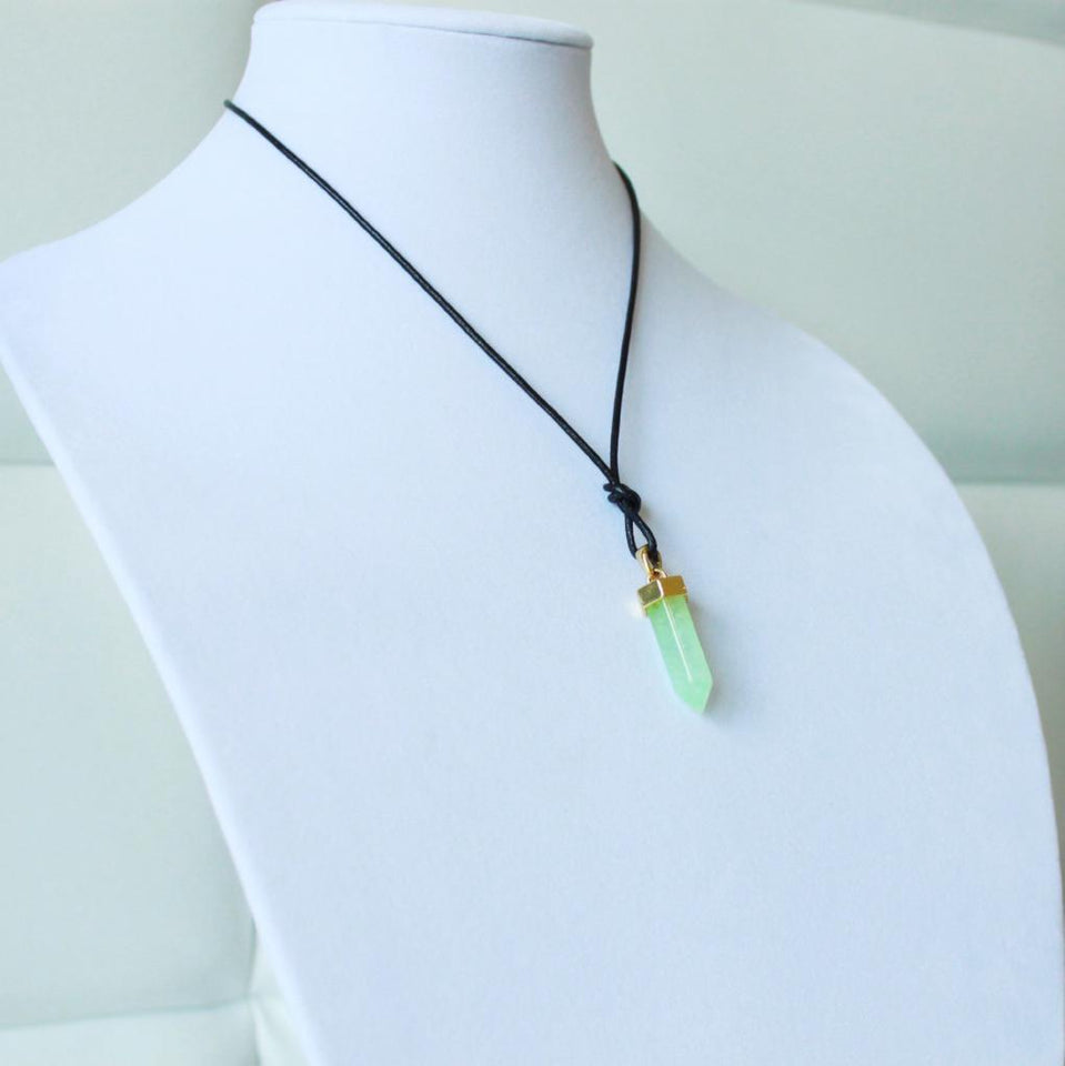 Unisex Gia Knotted Pendant Necklace (Multiple Colors) - One Stop Quik Shop