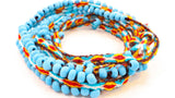 Women's Teal,  Hypnotic, Wrap Bracelets - One Stop Quik Shop