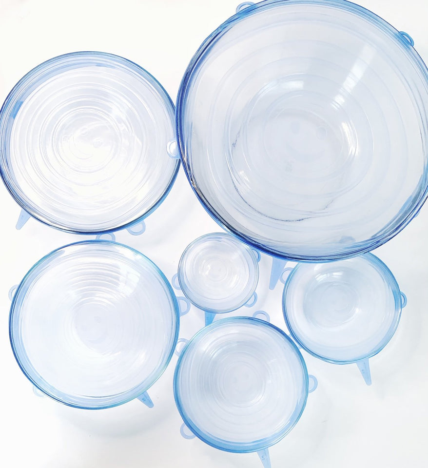 Silicone Food and Bowl Covers- 6 Pack - One Stop Quik Shop