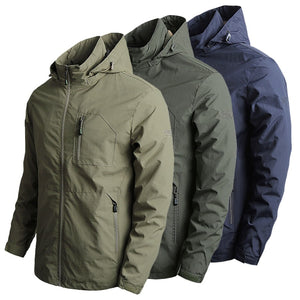 Men's Soft-shell Autumn Tactical Bomber Jacket - One Stop Quik Shop