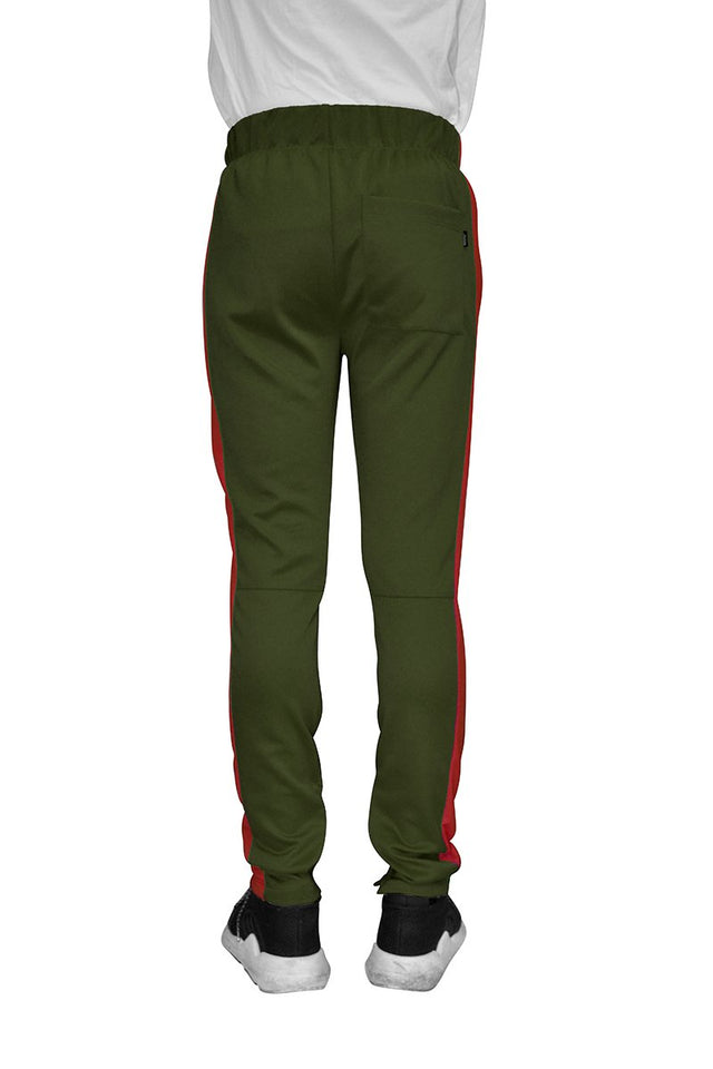 MEN'S WEIV Track Pants Olive-Red - One Stop Quik Shop