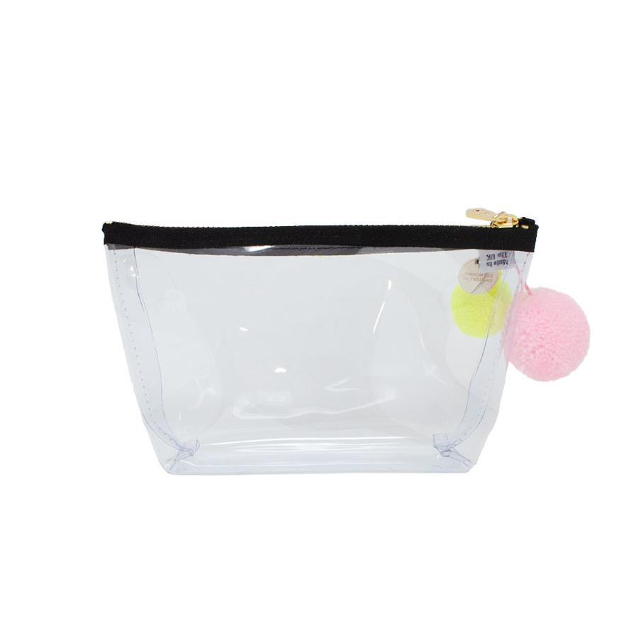 Alicia Small Clear Make up Bag - White - One Stop Quik Shop