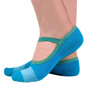 2 Pairs Ladies Non Slip Yoga Socks with Strap - One Stop Quik Shop