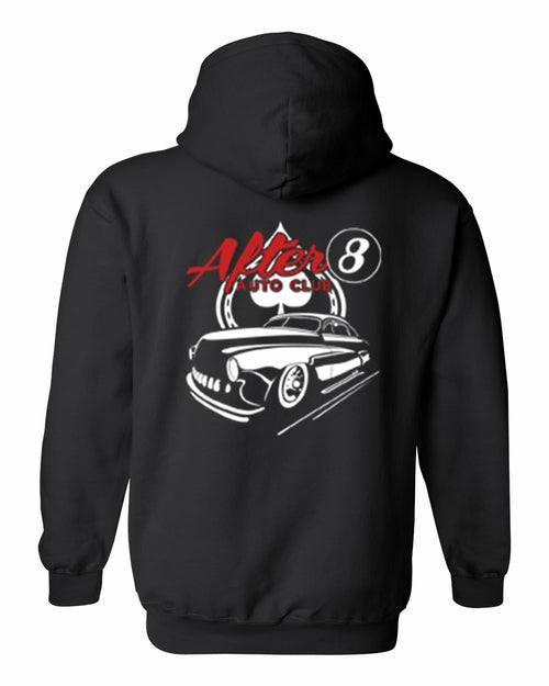 Men's/Unisex Zip-Up Hoodie Cool After 8 Hot Rod Auto Club - One Stop Quik Shop
