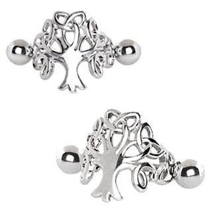 Unisex Stainless Steel Tree of Life Cartilage Cuff Earring - One Stop Quik Shop