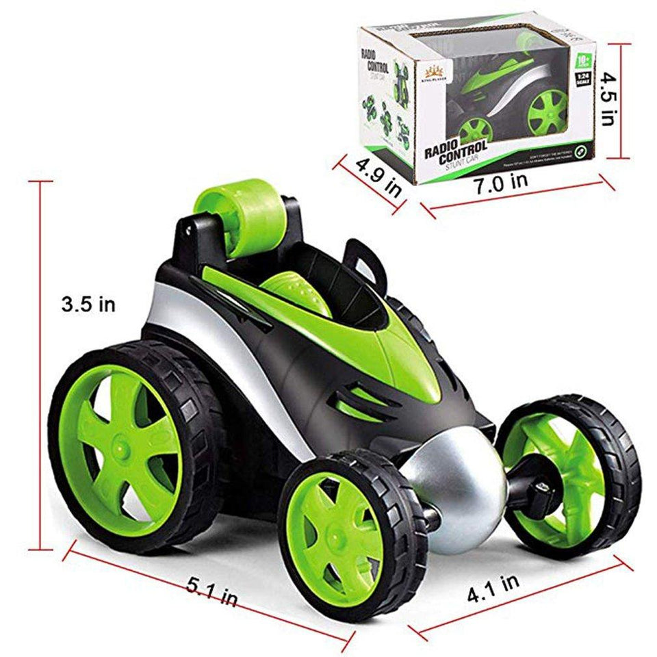Wireless Remote Control Jumping Flip Wheels Toy Car - One Stop Quik Shop