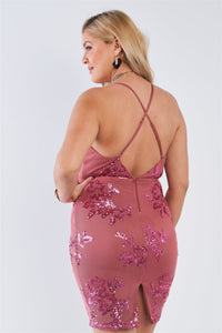 Women's Plus Size Chic and Sexy Dress - One Stop Quik Shop