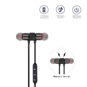 Wireless Bluetooth 4.0 Headset Sports Black - One Stop Quik Shop