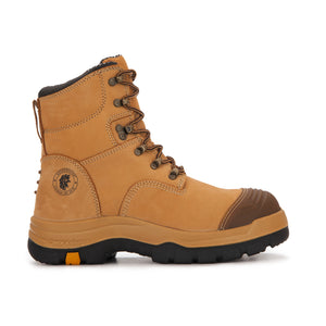 Men's Steel Toe Leather Asphalt Work Boots - One Stop Quik Shop