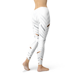 Womens White Stripes Leggings - One Stop Quik Shop