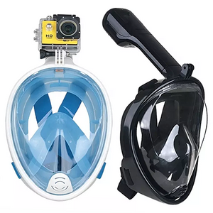 Full Face Snorkel Mask with Optional HD 1080P Action Sports Camera - One Stop Quik Shop