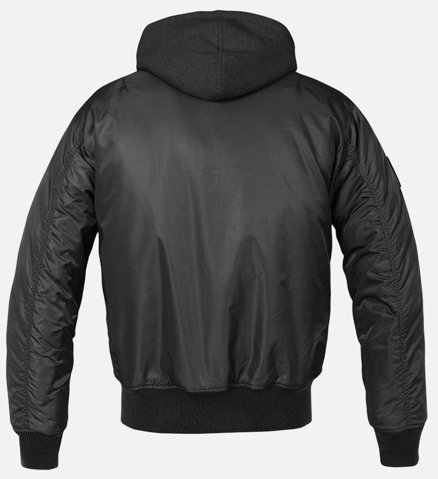 Hooded MA1 Bomber Jacket - One Stop Quik Shop