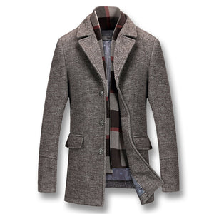 Men Winter Thick Cotton Wool Coat - One Stop Quik Shop