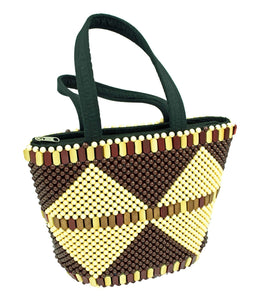 African Traditional Beaded Handcrafted Shoulder Bag Woven - One Stop Quik Shop