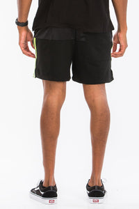 Men's Quarter Mesh Reflective Tape Shorts - One Stop Quik Shop