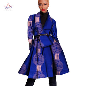 Women African Traditional Elegant Trench Coat - One Stop Quik Shop