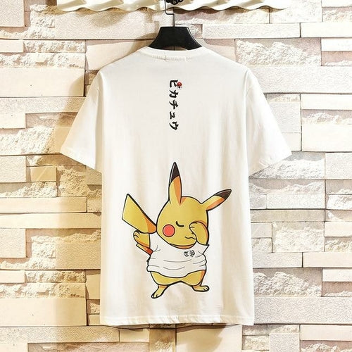 Men's Cotton Fashion  Funny Anime Tee - One Stop Quik Shop