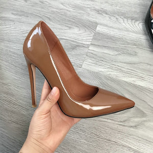 Women Classic Pumps Extreme High Heels 12cm Sexy Stilettos - One Stop Quik Shop