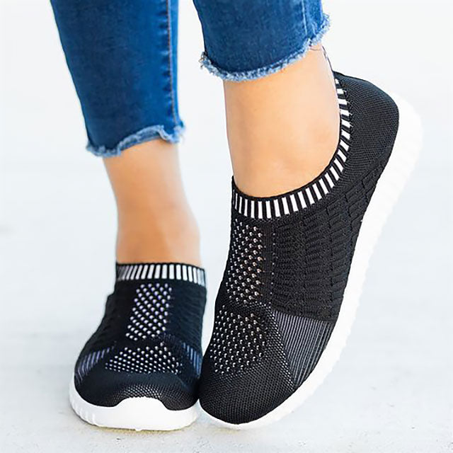 Women's Plus Size Round Toe Casual Sneakers - One Stop Quik Shop