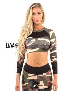 Virginia Camouflage Sports Top - Brown/Green - One Stop Quik Shop