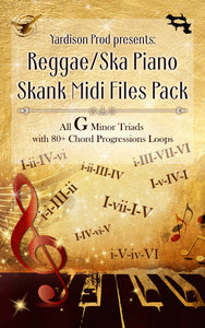 Reggae/Ska Piano Skank Midi Files Pack G Minor Triads With 80+ Chord Progressions Loops